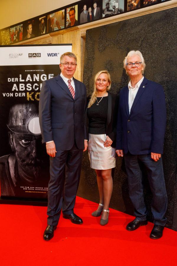 RAG Chef Bernd Tönjes mit Regisseur/in Petra Neukirchen und Werner Kubny